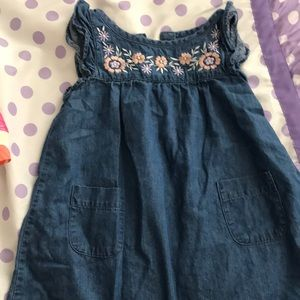 Cute embroidered blue Jean dress 2T
